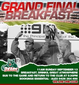 Grand Final Breakfast