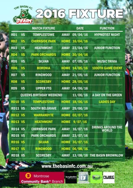 2016 Fixture